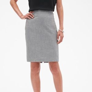 Banana Republic Factory Grey Melange Pencil Skirt